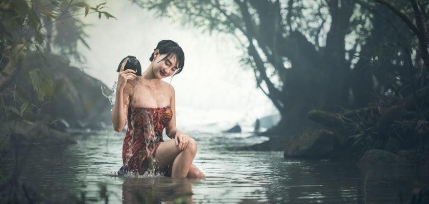 O que significa sonhar tomando banho