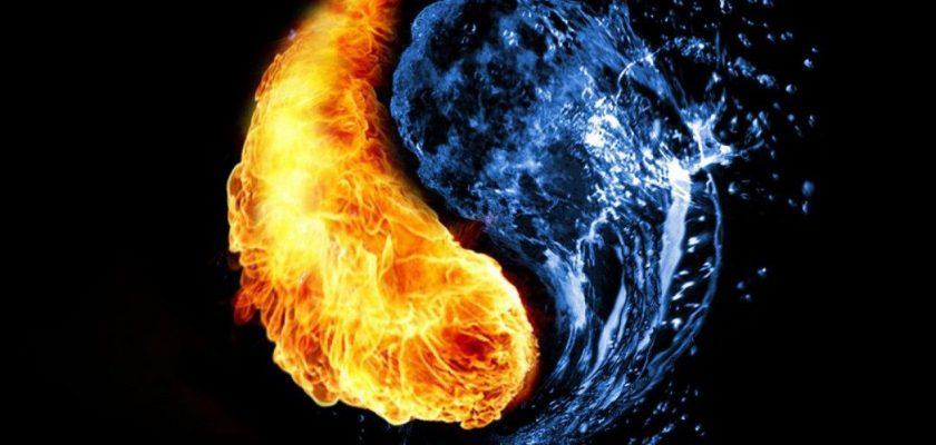 Sonhar com fogo e água