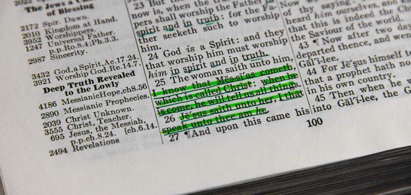 Sonhar com versículo da bíblia